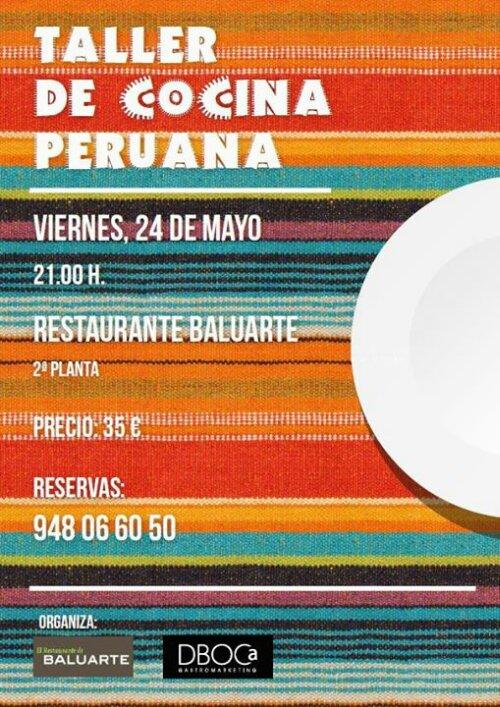 Taller de cocina Peruana Baluarte viernes 24 mayo  unpeloenlasopa