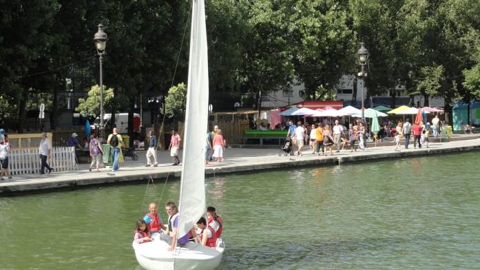 Bassin de la Villette - Paris Plage, Bateau à Voile