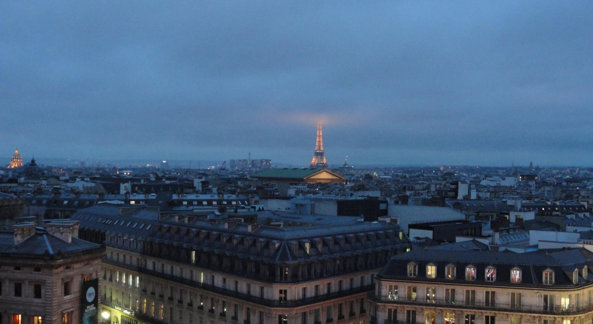 Vues De Paris 1 Le Toit Des Galeries Lafayette Un Petit