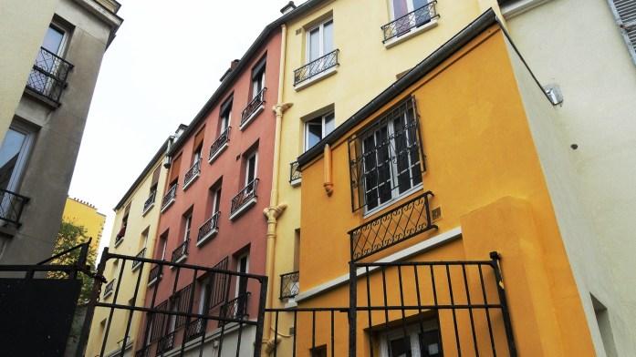 Square des deux Nèthes, Paris 18e - Immeubles colorés