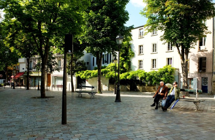 Balade dans le quartier de Ménilmontant - Place du Guignier