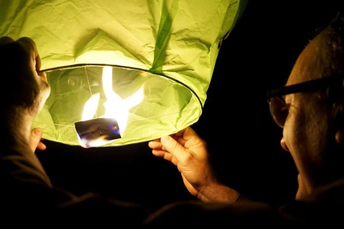 Lancé de lanternes chinoises