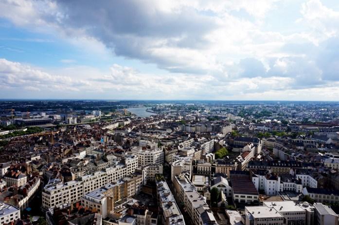 Nantes vue d'en haut