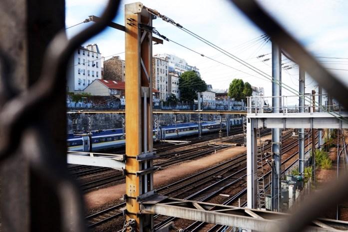 Traversée voies gare du nord - Paris 18e