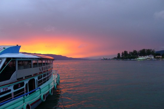 Coucher de soleil sur Samosir