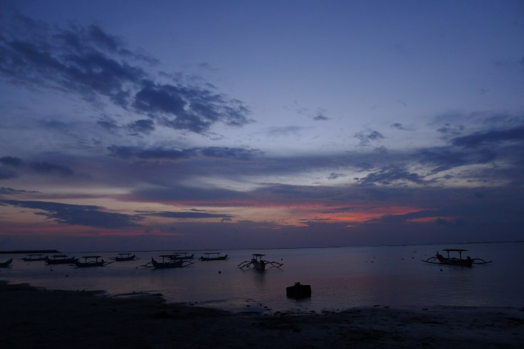 Coucher de soleil sur Kuta Beach