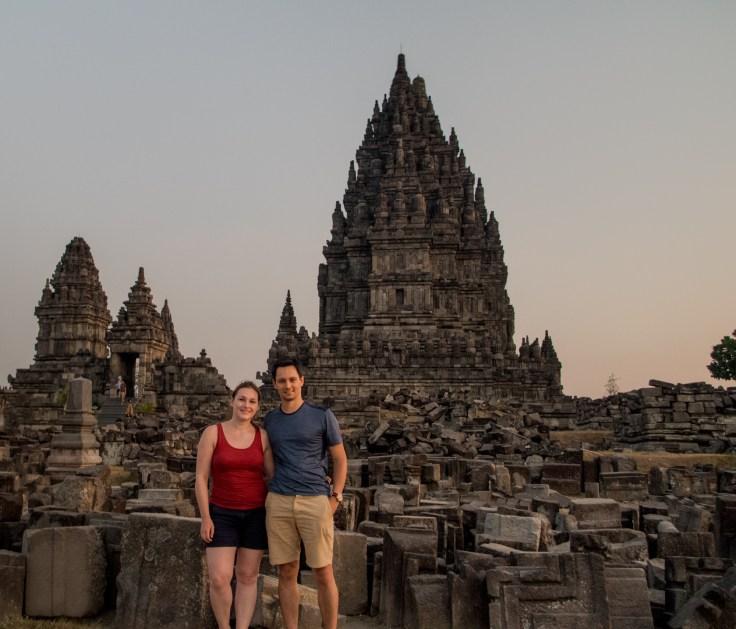 Prambanan - touristes