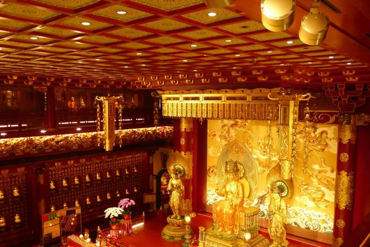Buddha Tooth Relic temple - vue depuis le 1er étage