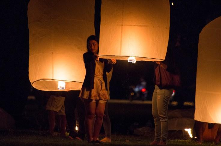 Loy Krathong Sukhothai lanterne
