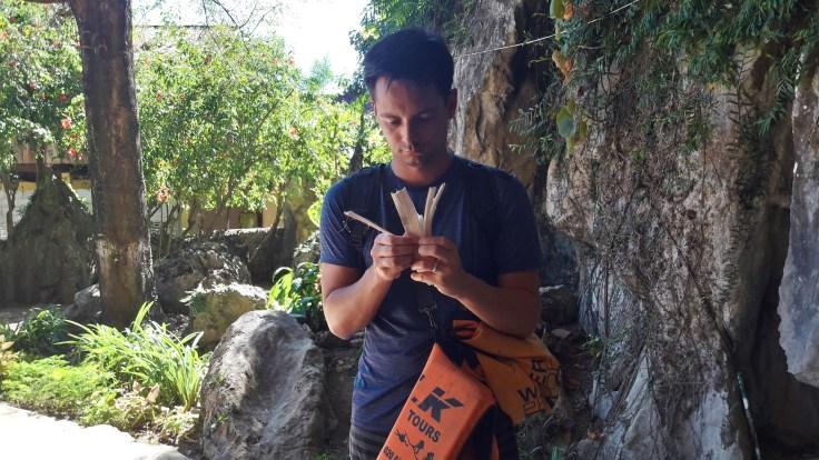 Laos - Vang Vieng - Rice bamboo