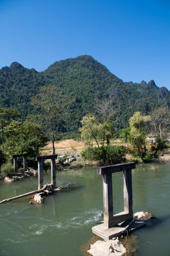 Laos - Vang Vieng - old bridge