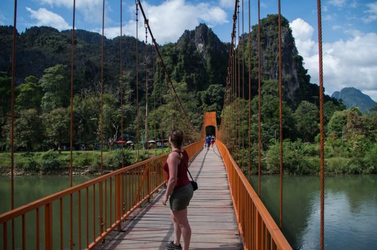 Laos - Vang Vieng - Red Bridge