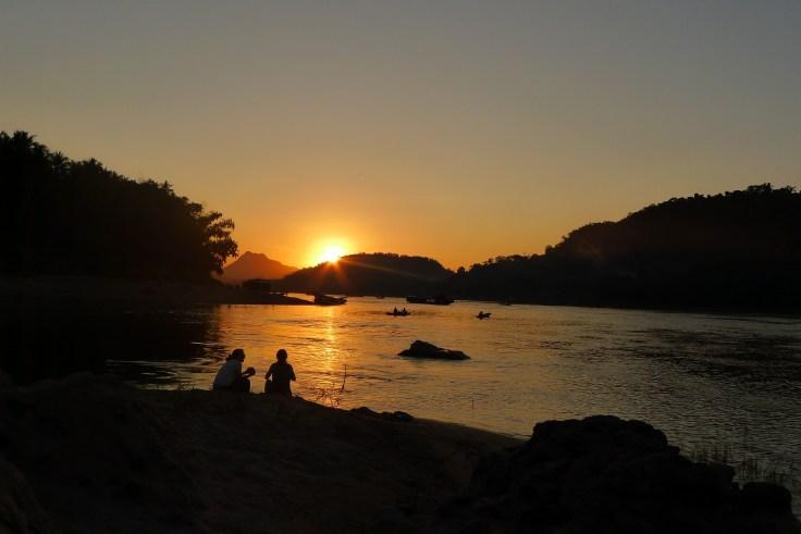 Luang Prabang - Mekong Nam Khan River Sunset