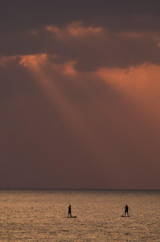 Thailande - Koh Lanta - coucher soleil - Stand Up Paddle