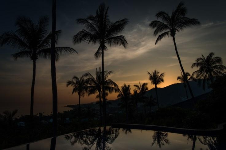 Thailande - Koh Samui - Coucher soleil - Piscine