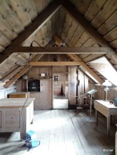 Intérieur en bois d'une maison rurale islandaise
