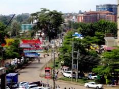 Vue du chaos en centre ville de Nairobi, Westlands