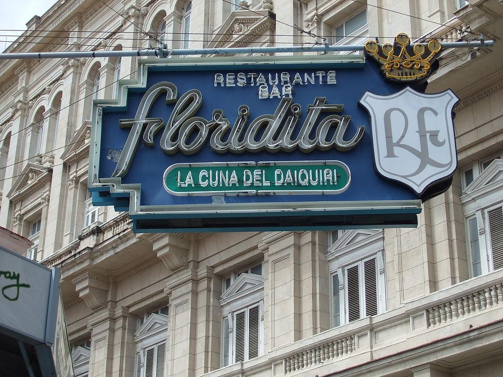 floridita bar sign