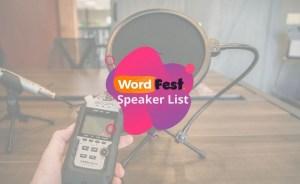 WordFest Speakers List