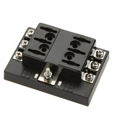 6 gang ato atc common bus fused distribution block with screw terminals [ 1000 x 1000 Pixel ]