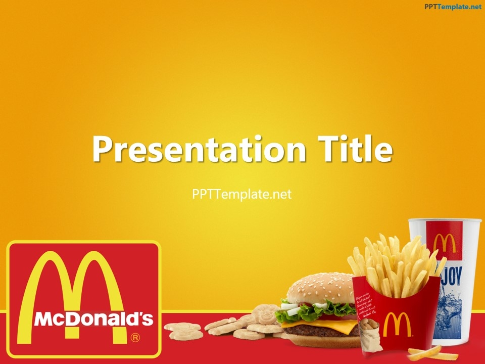 free mcdonalds with logo ppt template