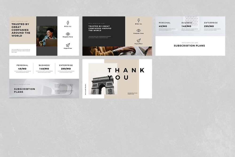 simple powerpoint presentation template on behance