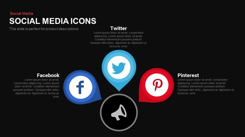 social media icons powerpoint and keynote template