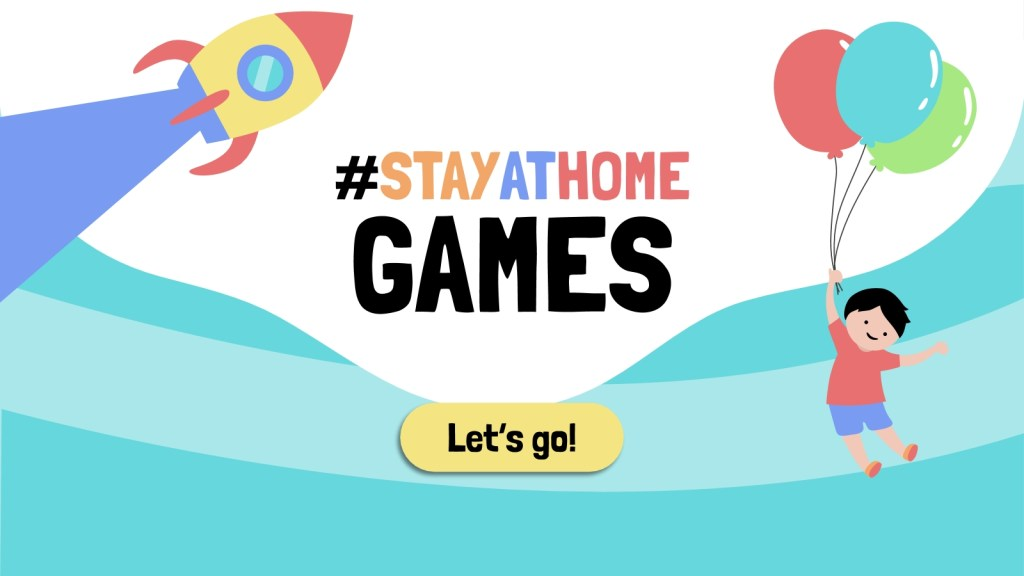 stayathome games google slides and powerpoint template