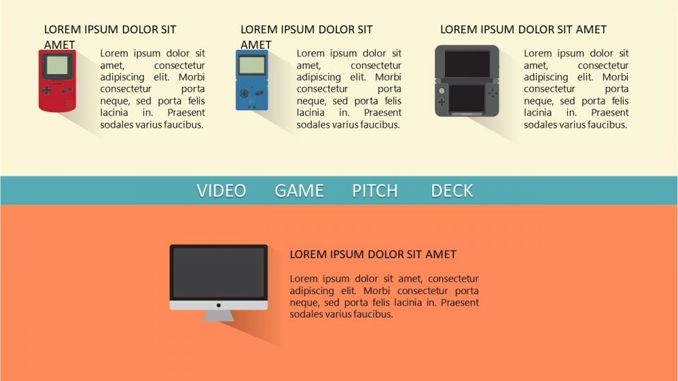 video game pitch deck for powerpoint slide template
