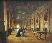 France XIXe, La Galerie d'Apollon vers 1880, Paris, musée du Louvre.