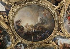 Charles de La Fosse, Le Char d'Apollon, 1673-1674, salon d'Apollon, Versailles, Musée national du Château.