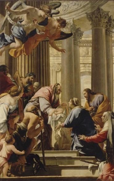 Simon Vouet, La Présentation au Temple, pour le maître-autel de Saint-Louis-des-Jésuites, Paris, musée du Louvre.