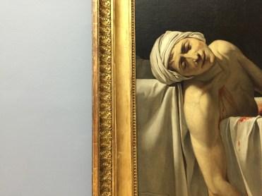 Jacques-Louis David - Marat assassiné (détail)