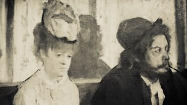 Edgar Degas, L'Absinthe, 1875-1876, (détail & retouche noir et blanc)