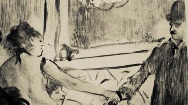 Edgar Degas, Le Client sérieux, 1876-1877 (détail)