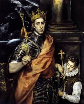 Domenico Theotocopoulos, dit El Greco, Saint Louis, roi de France, et un page