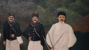 Henri Julien Félix Rousseau, dit Le Douanier Rousseau, Les Artilleurs, vers 1893-1895 (détail)
