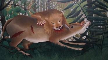 Henri Julien Félix Rousseau, dit Le Douanier Rousseau, Le Lion, ayant faim, se jette sur l'antilope, 1898-1905 (détail)