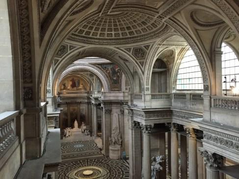Panthéon, vue de la nef depuis la tribune