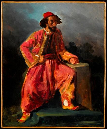 Eugène Delacroix, Turc assis, portrait présumé du chanteur Baroilhet © RMN-Grand Palais (musée du Louvre) / Tony Querrec