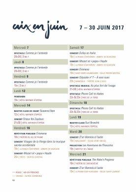 planning Aix en Juin 1