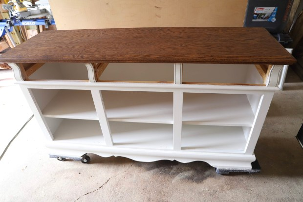 Chalk paint an old china hutch HOW TO