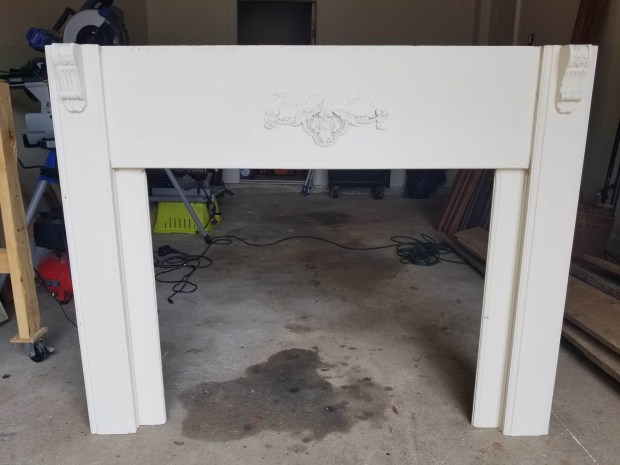 How to refinish a shabby chic antique mantel