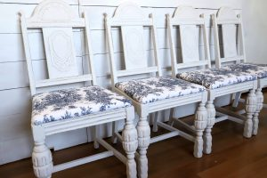 set of 4 Hellrung & Grimm vintage dining chairs