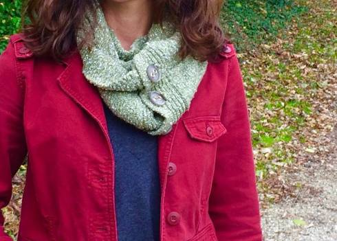 DIY sweater scarf