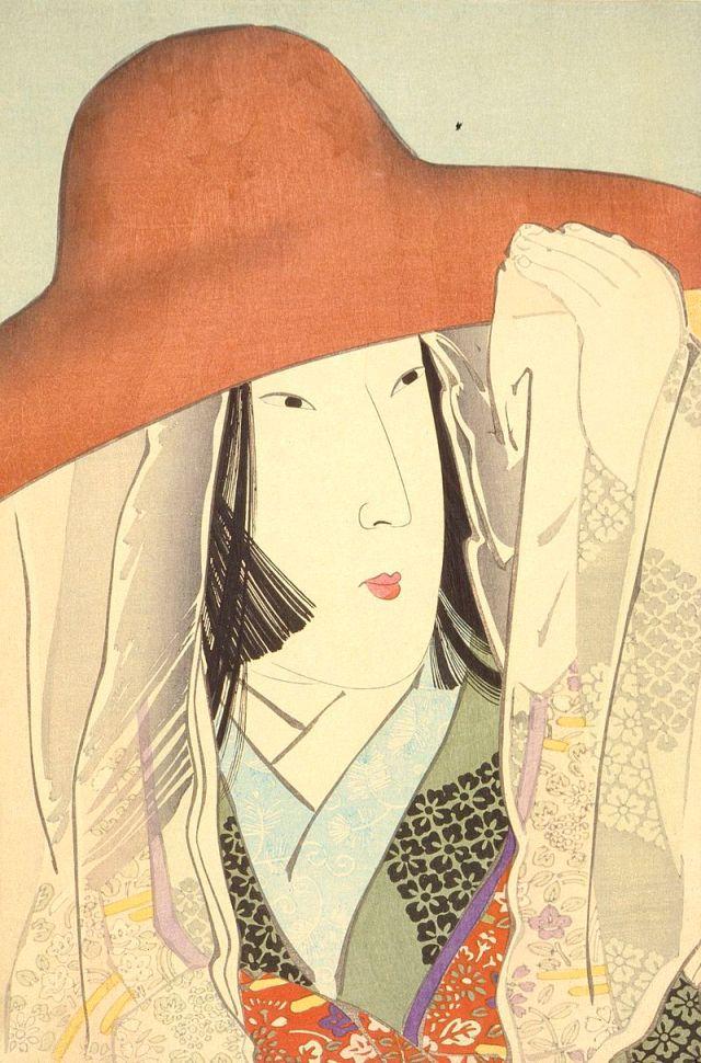 Lady Sei Shonagon, woodblock print by Kobayashi Kiyochika, 1896