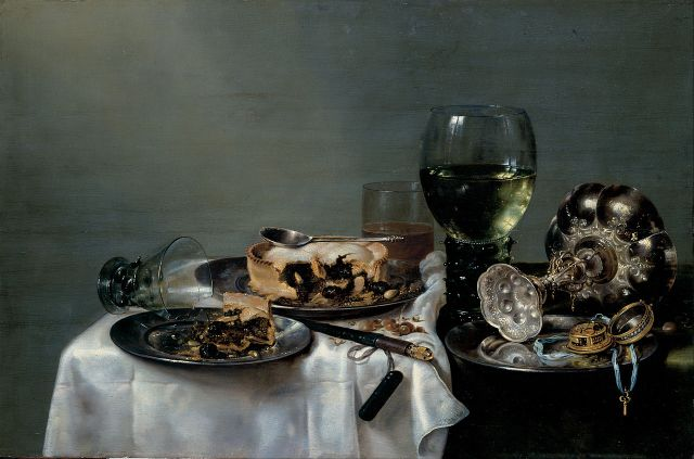 Willem Clasz Heda Breakfast Table with Blackberry Pie