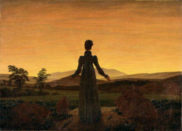 Caspar David Friedrich's 'Woman Before Rising Sun'