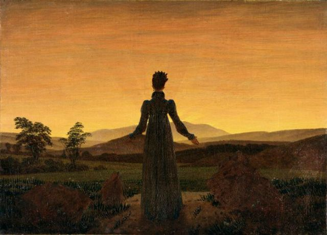 Caspar David Friedrich's 'Woman Before Rising Sun'
