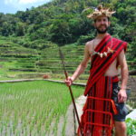 dressed in Ifugao traditional dress at Bangaan Rice Terraces Philippines (2)
